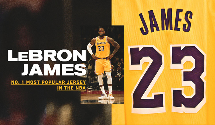LeBron's Jersey Most Popular in NBA; Lakers Top Team Merchandise List — Los Angeles Lakers