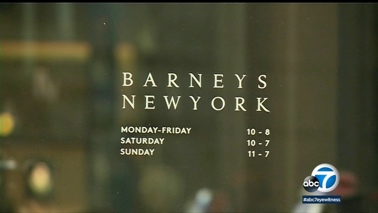Barneys New York closing all stores after bankruptcy filing