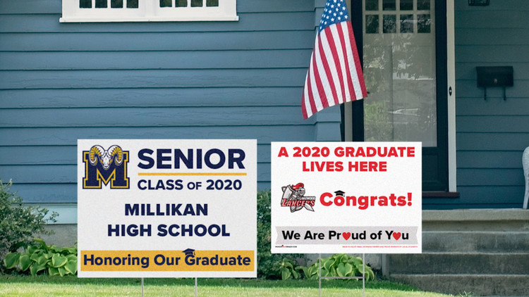 2020 grads are being honored with custom signs from Signal Hill print shop — ABC7 Los Angeles