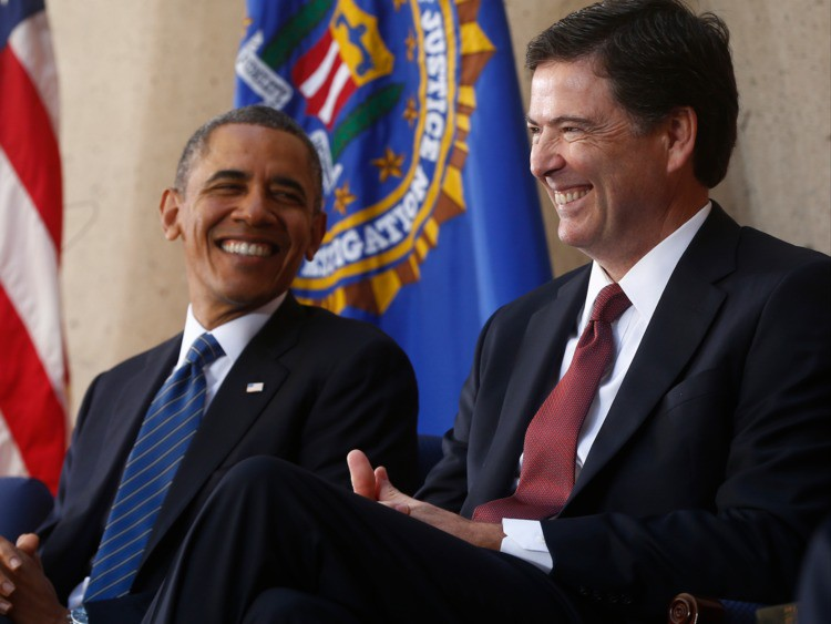 A playful joke Obama told James Comey's family shows why he was 'a compelling leader' — Business Insider