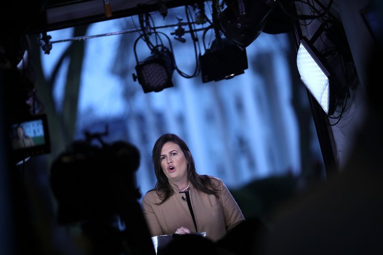 Sarah Huckabee Sanders Hit By 'Big Bang Theory' Credits: 'God Told Me He Hasn't Spoken' to Her 'Since She Was Fourteen' — Newsweek
