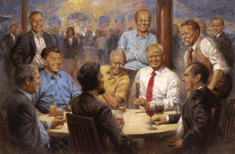 There's a Subtle Feminist Message in This New Painting of Donald Trump — TIME