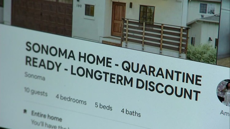 Airbnb: Some Sonoma County vacation rentals skirt shelter-in-place guidelines amid COVID-19 — ABC7 Bay Area