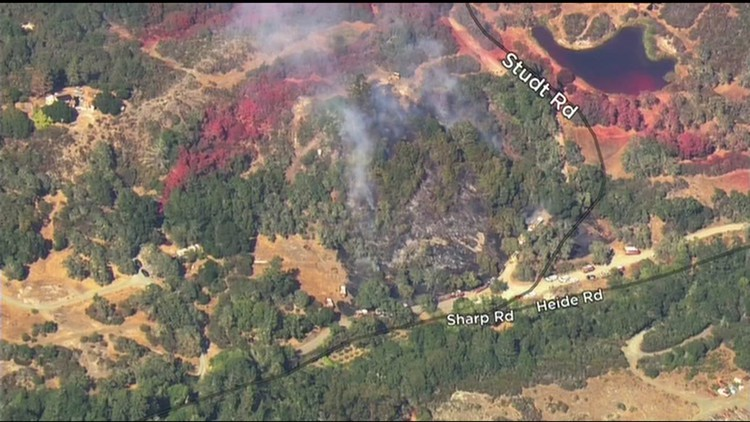 Crews respond to vegetation fire in Sonoma County
