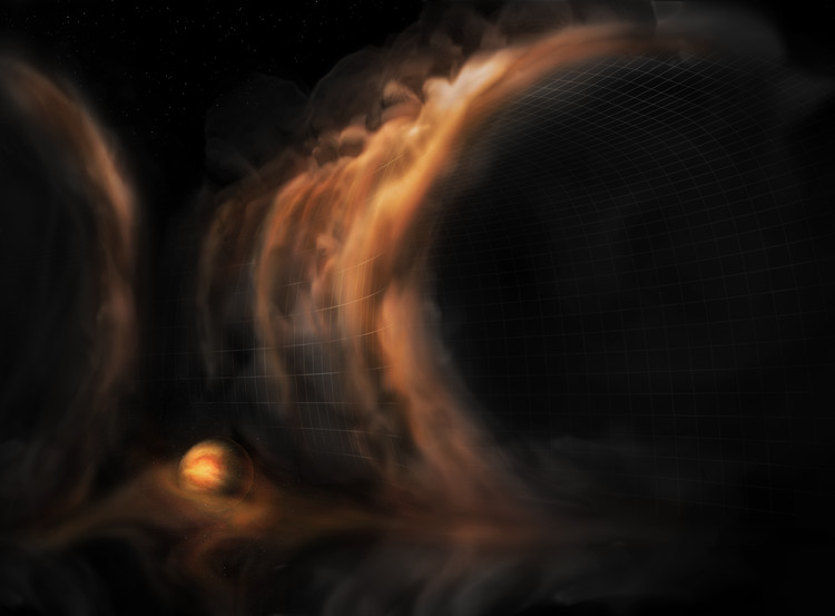 3D Motion Of The Gas In A Baby Star System Observed For The First Time