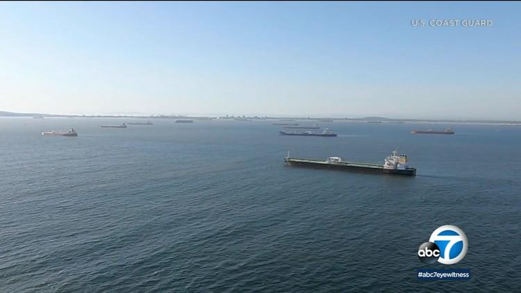 Coast Guard monitoring oil tankers near LA, Long Beach ports — ABC7 Los Angeles
