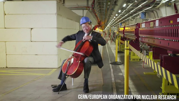 Yo-Yo Ma just played Bach 100 metres underground at the Large Hadron Collider