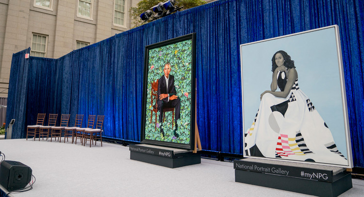 The Hidden Political Message of Michelle Obama's Portrait Dress — POLITICO