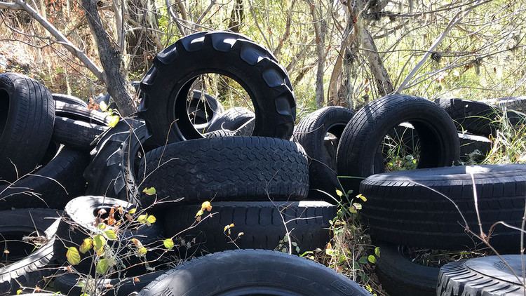 Hundreds of old tires found along Russian River in Mendocino County