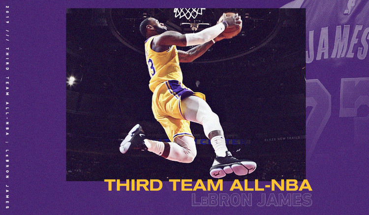 LeBron James Named to All-NBA Third Team — Los Angeles Lakers