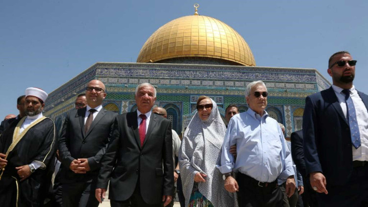 Israel protests Chilean president's visit to Asqa mosque compound